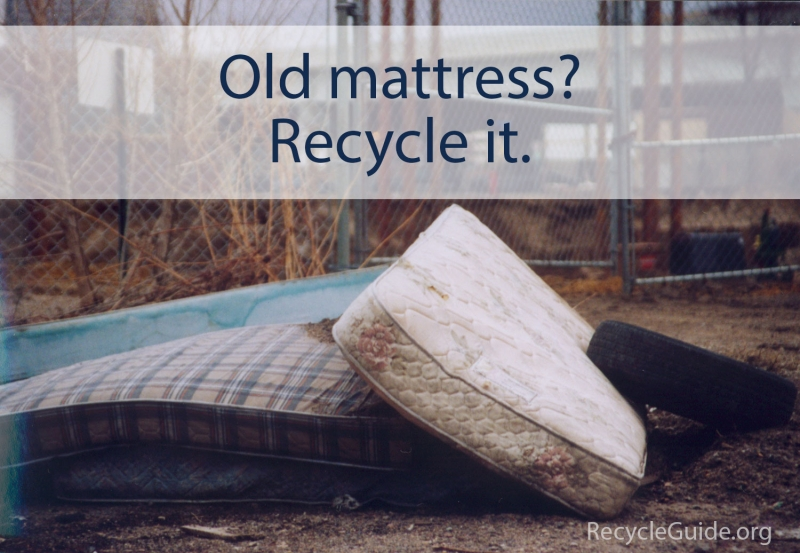 Recycle Mattress - The Recycle Guide - Recycling Mattresses